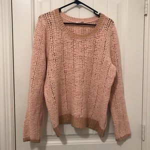 ANTHROPOLOGIE Scoop neck pink sweater